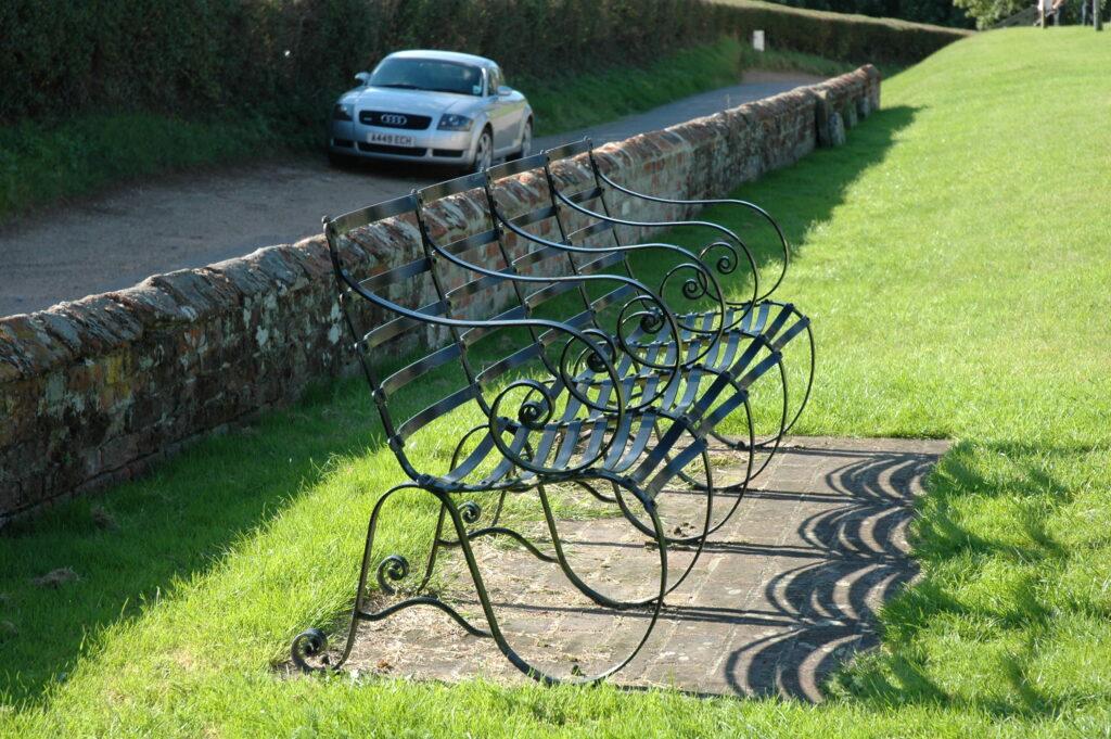 garden furniture, garden bench, four seater, made in bury st edmunds,suffolk